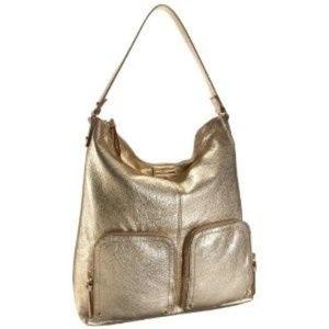 Kate Spade La Casita Ginnifer Gold Hobo Bag Purse